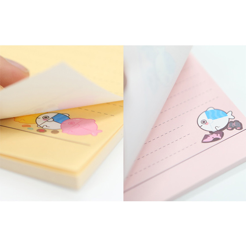 40 sheets - DESIGN IVY Ggo deung o clipboard with lined notepad