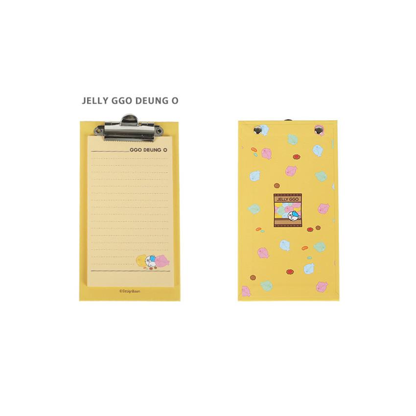 Jelly Ggo deung o - DESIGN IVY Ggo deung o clipboard with lined notepad