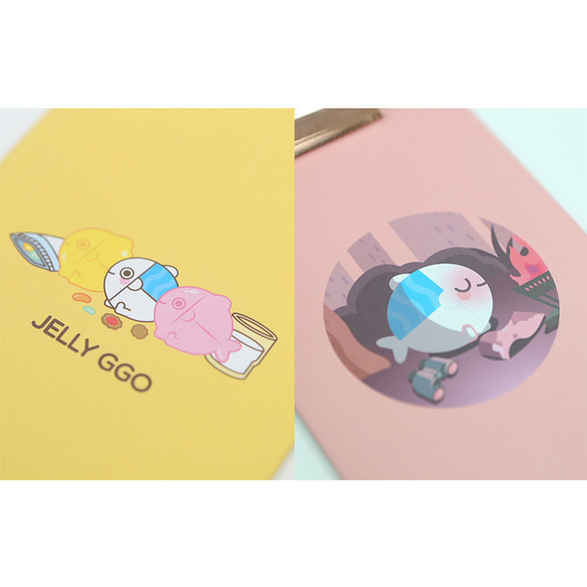 Cute illustration - DESIGN IVY Ggo deung o clipboard with lined notepad