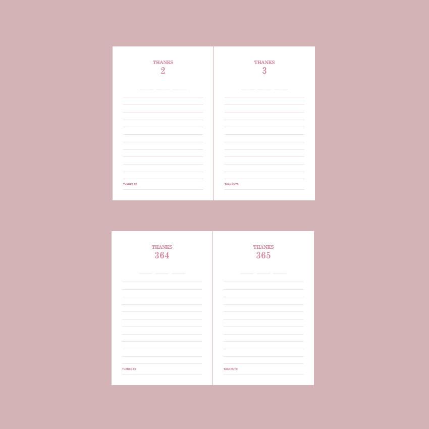 Undated journal - Indigo 365 days dateless gratitude daily journal