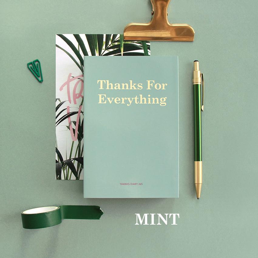 Mint - Indigo 365 days dateless gratitude daily journal