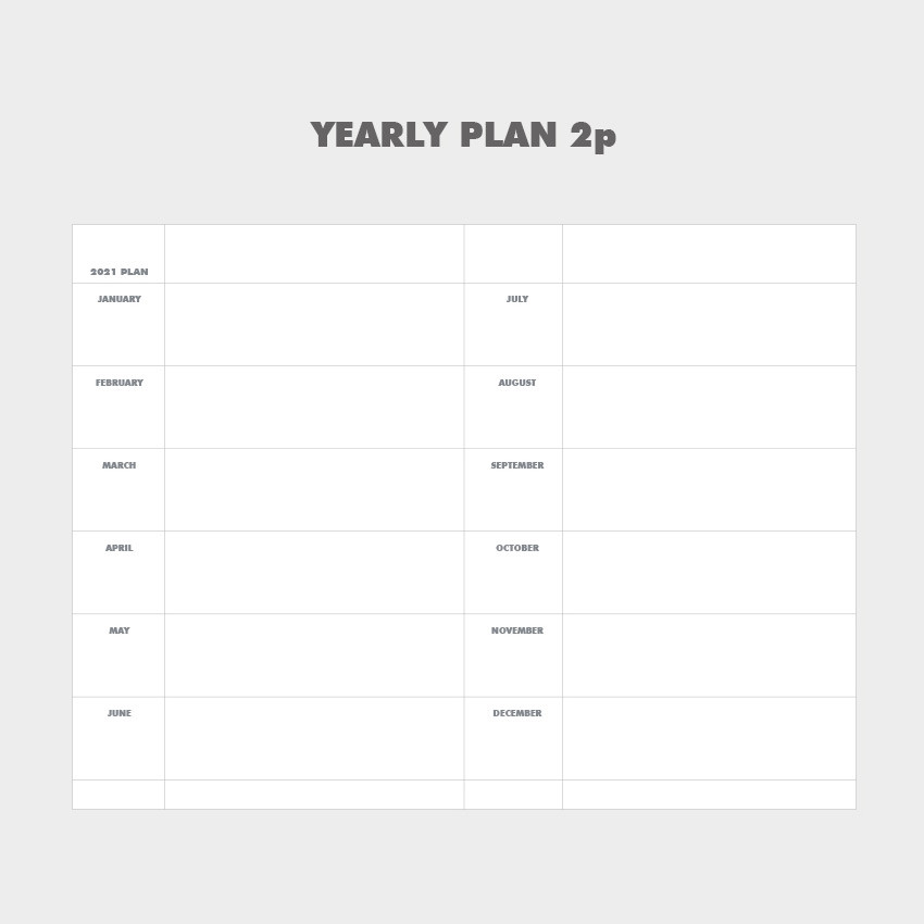 Yearly plan - Indigo 2021 Colorful and Basic dated weekly diary planner