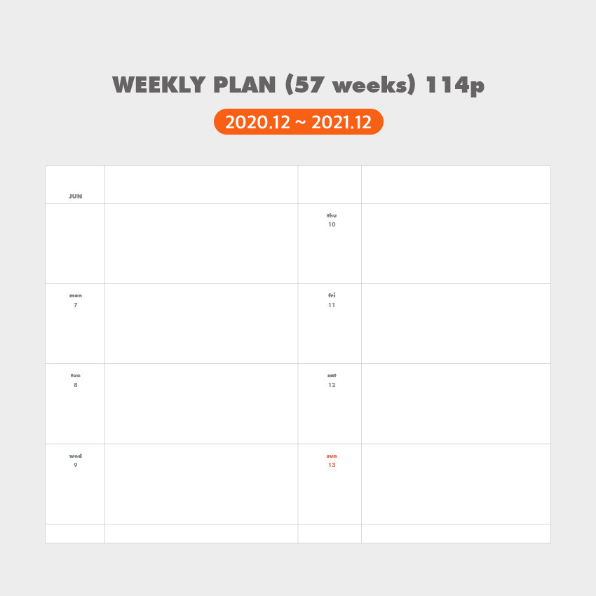 Weekly plan - Indigo 2021 Colorful and Basic dated weekly diary planner
