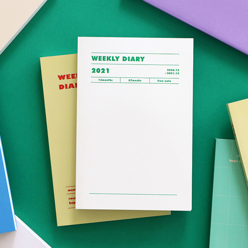 Indigo 2021 Colorful and Basic dated weekly diary planner