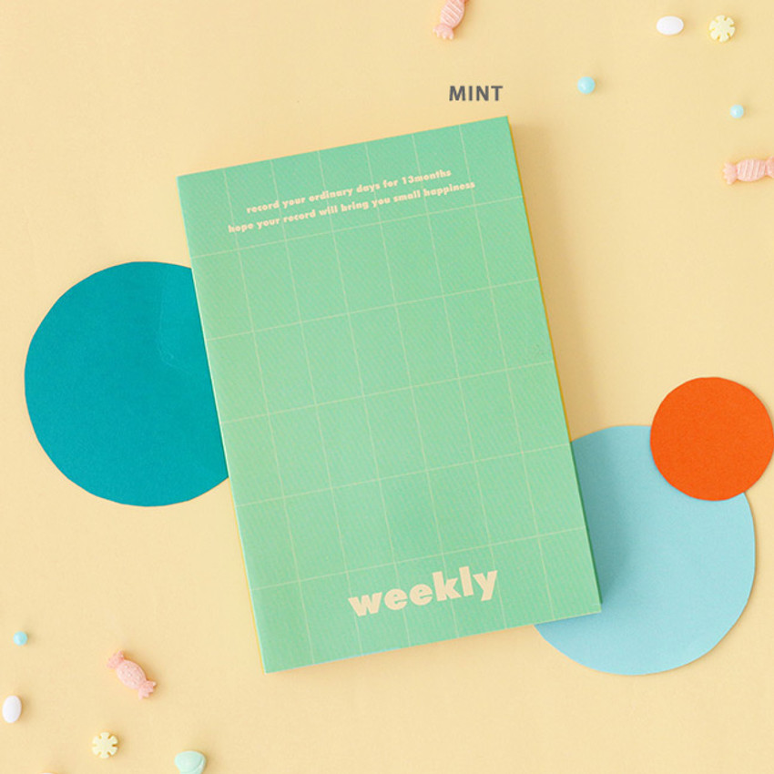 Mint - Indigo 2021 Colorful and Basic dated weekly diary planner