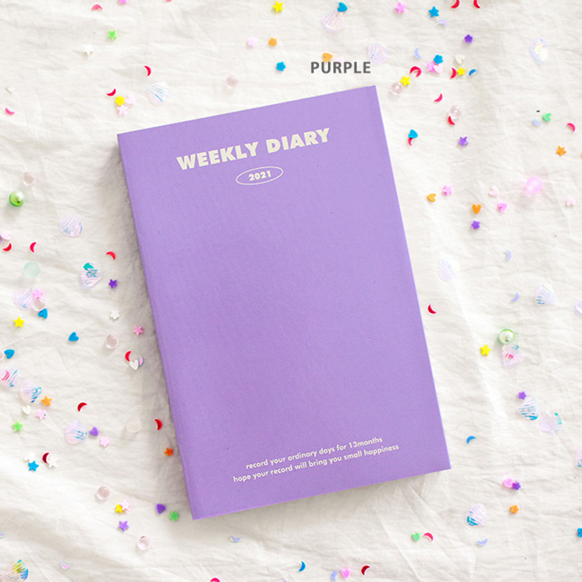 Purple - Indigo 2021 Colorful and Basic dated weekly diary planner
