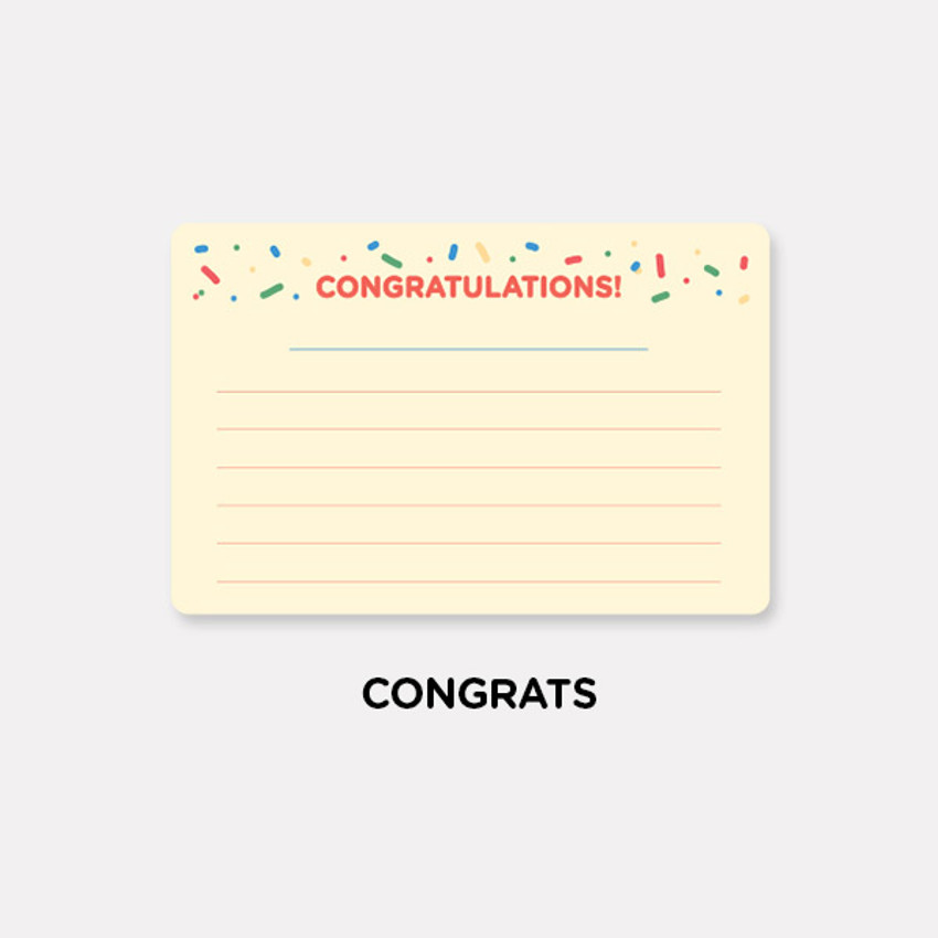 Congrats - Gunmangzeung The memo my various sticky notepad