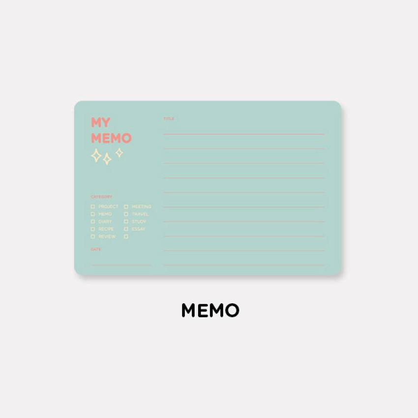 Memo - Gunmangzeung The memo my various sticky notepad