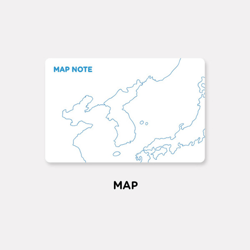 Map - Gunmangzeung The memo my various sticky notepad