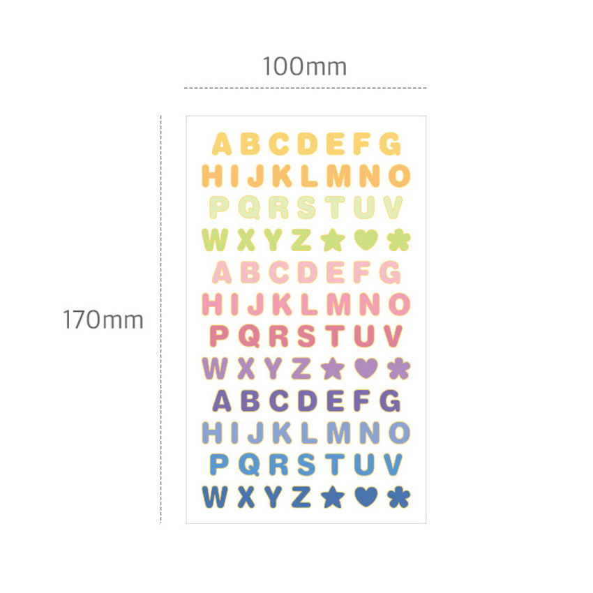 Size - Indigo Gold line PVC removable sticker