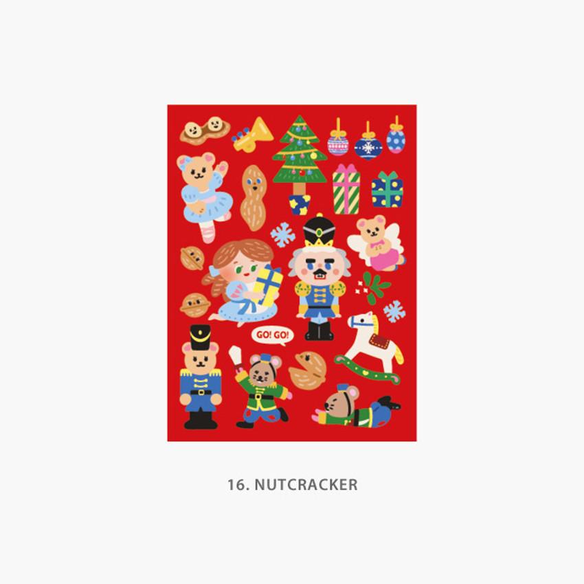 1 Nutcracker - Project fairy tale my juicy bear removable sticker 9-16