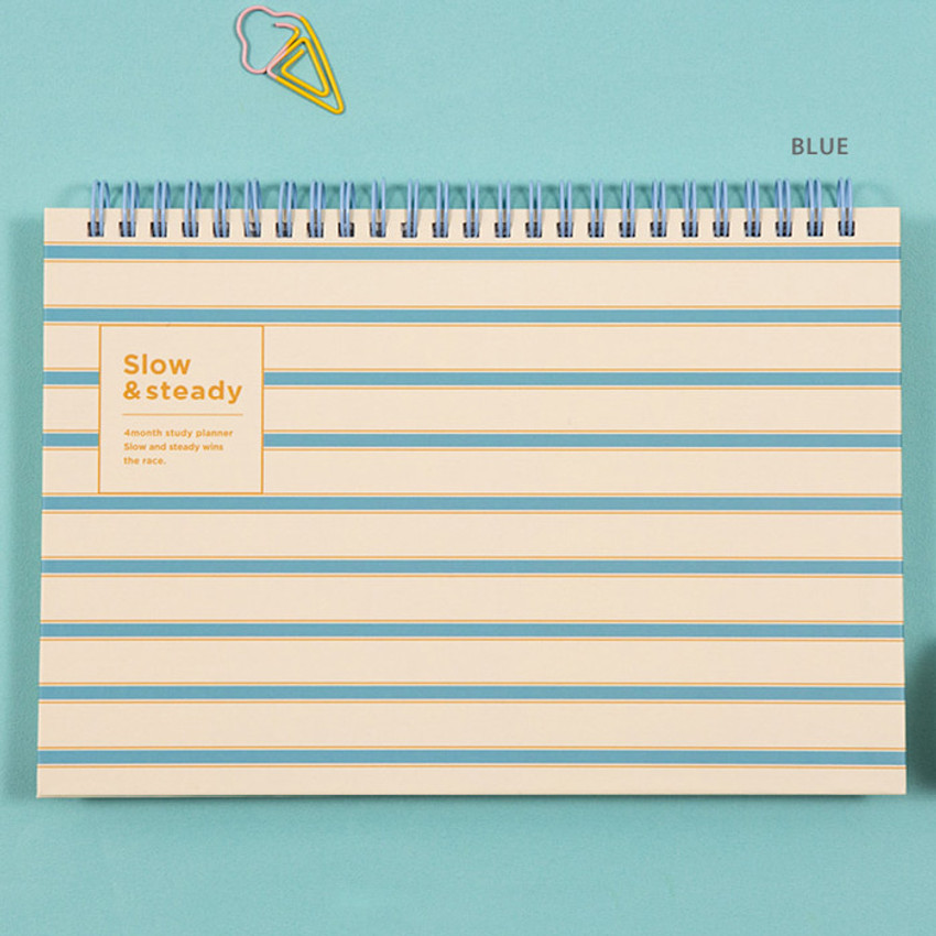 Blue - Ardium Slow and steady 4 months dateless study planner