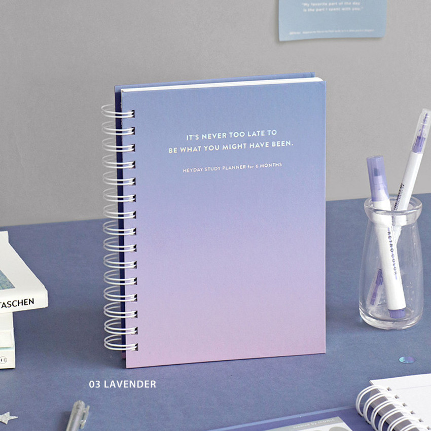Lavender - ICONIC Heyday 6 months hardcover dateless study planner