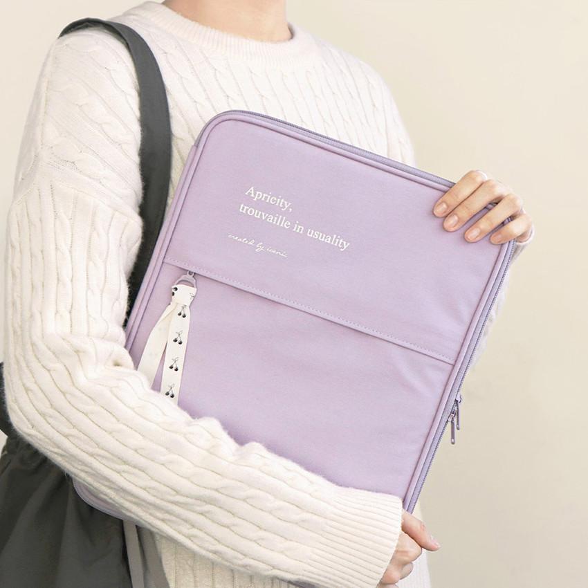 ICONIC Cottony 13 inches laptop zipper sleeve case