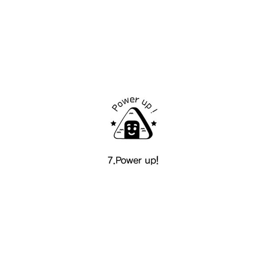 07 Power up - Indigo Cheer self black inking stamp