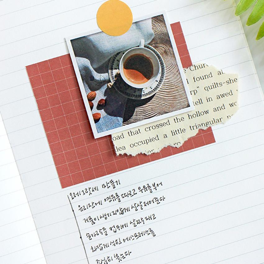 Usage example - Indigo Vintage decorative paper sticker pack 50 sheets