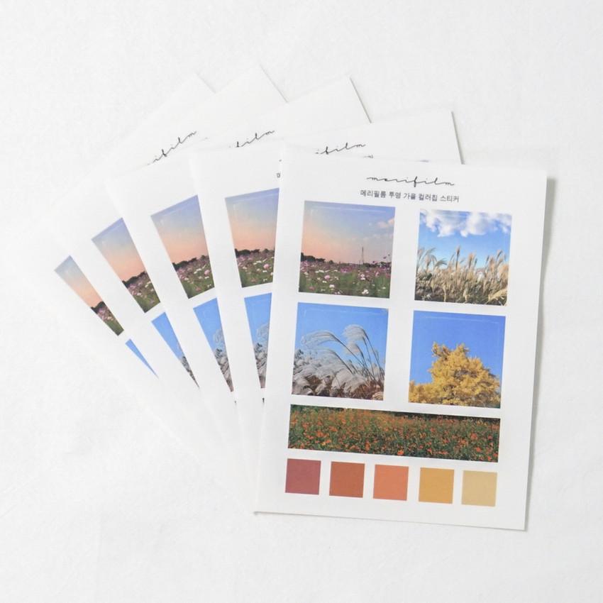 Meri Film Autumn color chips translucent sticker set