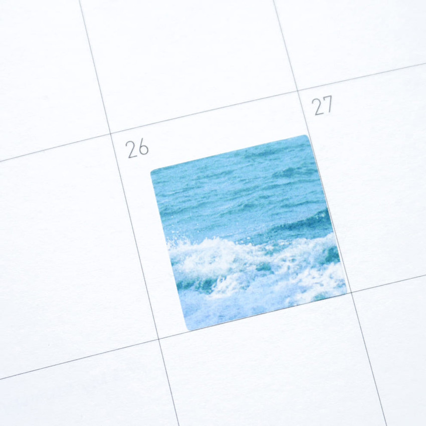 Usage example - Meri Film Ocean color chips translucent sticker set