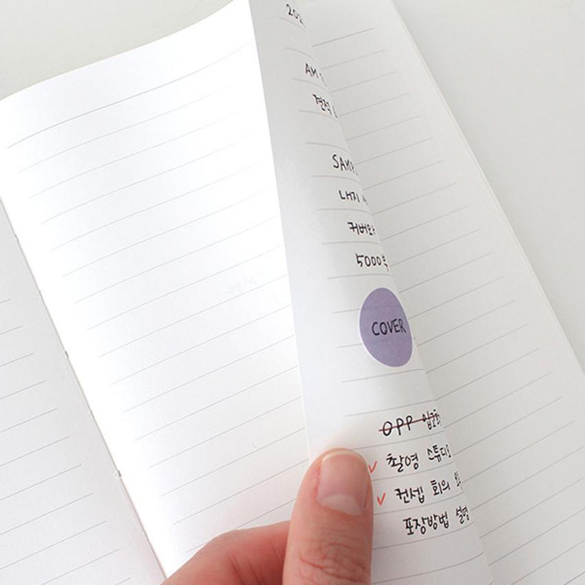 120gsm paper - Indigo Prism 280 hardcover lined notebook