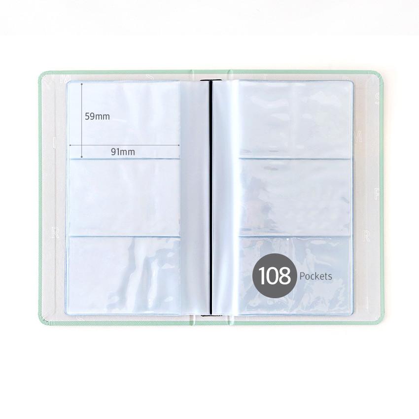 108 Pockets - Indigo Prism 108 pockets hardcover name card album