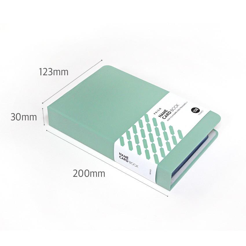 Size - Indigo Prism 108 pockets hardcover name card album