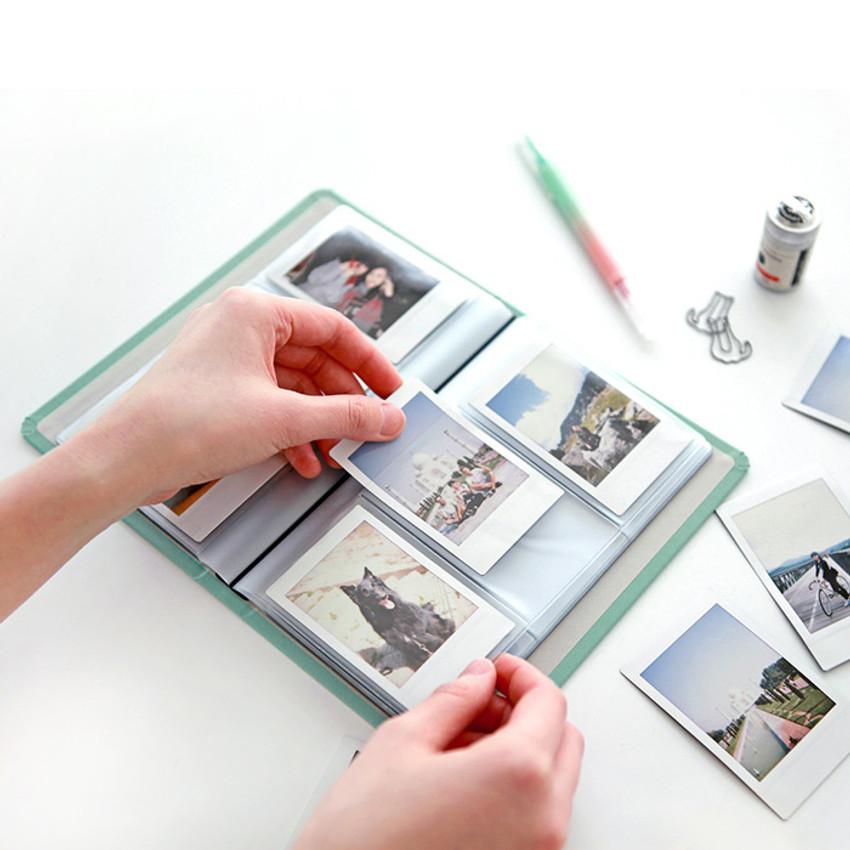 Usage example - Indigo Prism 108 pockets hardcover name card album