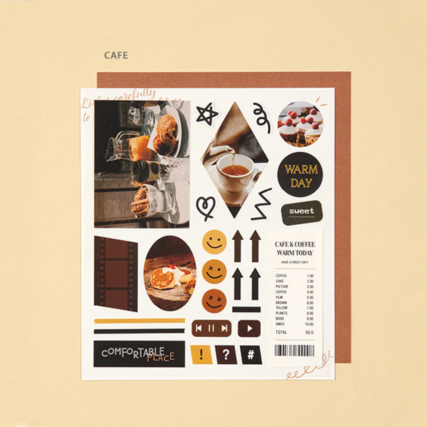 Cafe - Ardium Mood decorative paper sticker