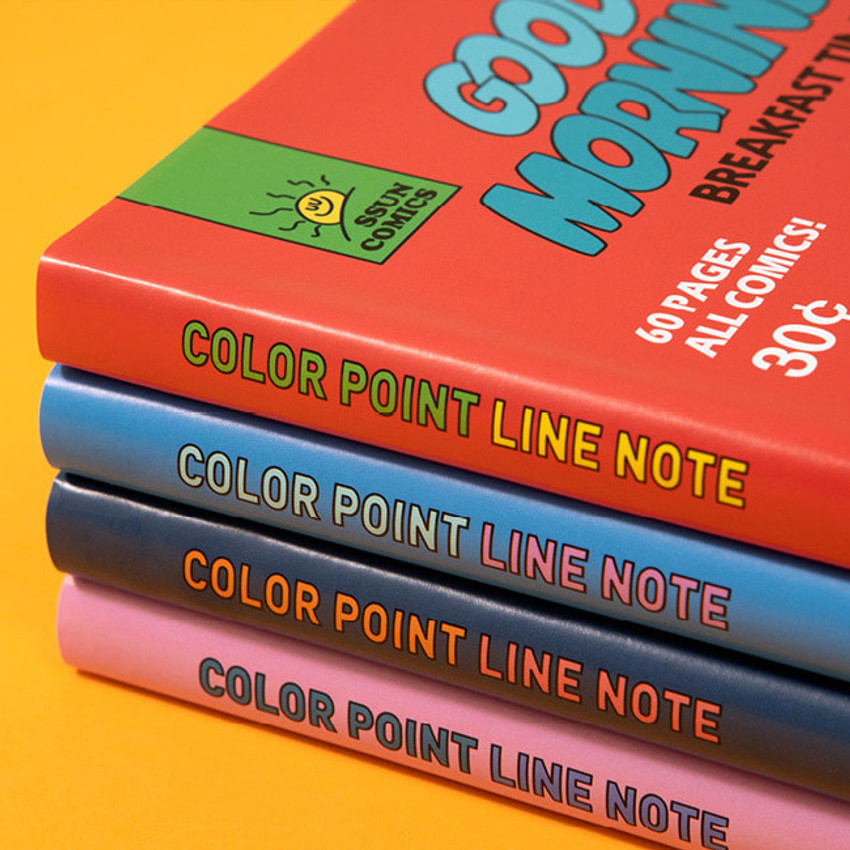 Colorful cover - Ardium Color point lined notebook ver2 with PVC cover