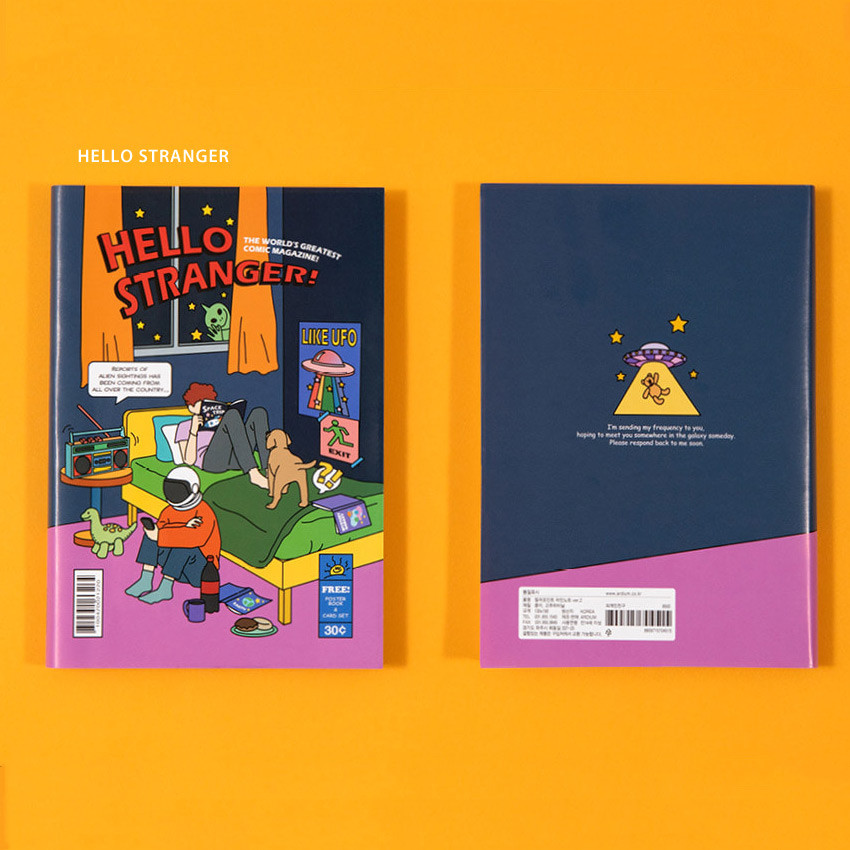 Hello stranger - Ardium Color point lined notebook  ver2 with PVC cover