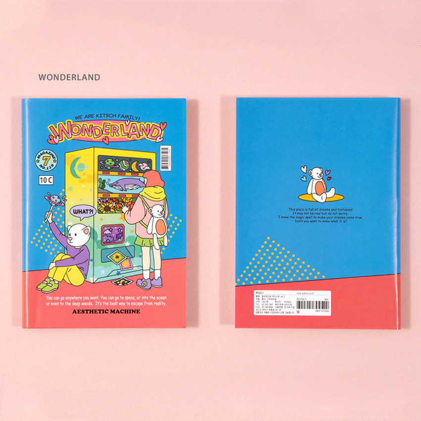 Wonderland - Ardium Color point lined notebook ver2 with PVC cover