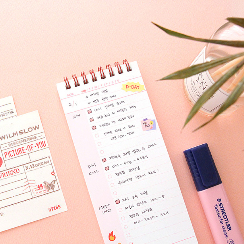 Usage example - PLEPLE One day to 100 days dateless checklist planner