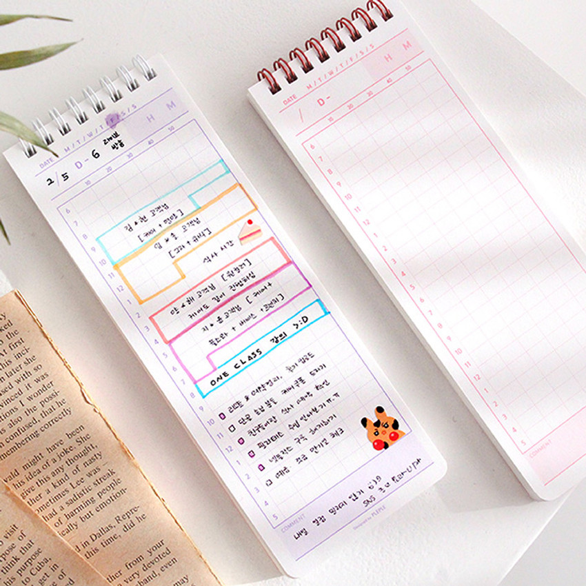 Usage example - PLEPLE 100 days 24 hours time management dateless planner