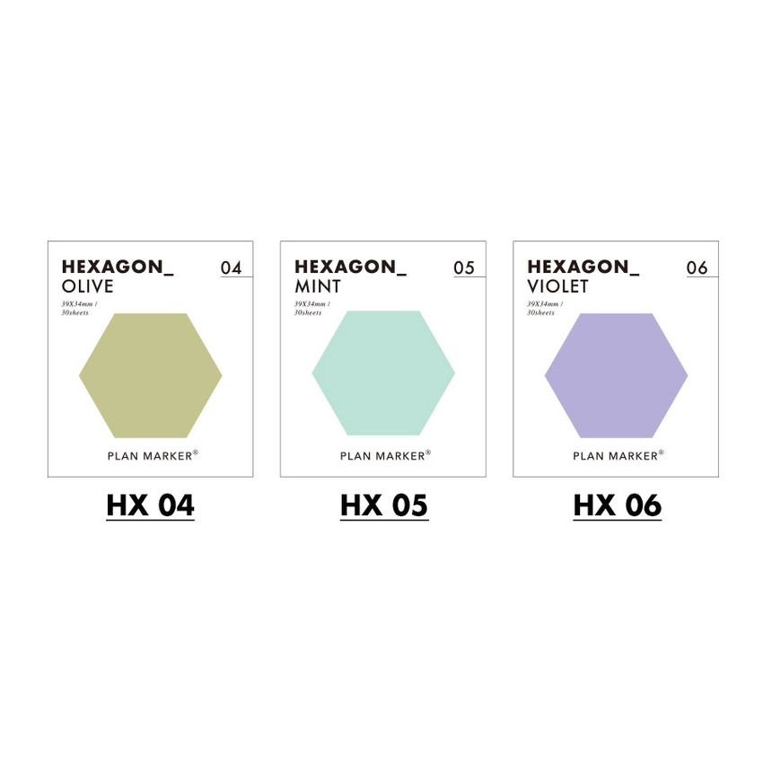 Color - PAPERIAN Hexagon large planner bookmark sticky notepad