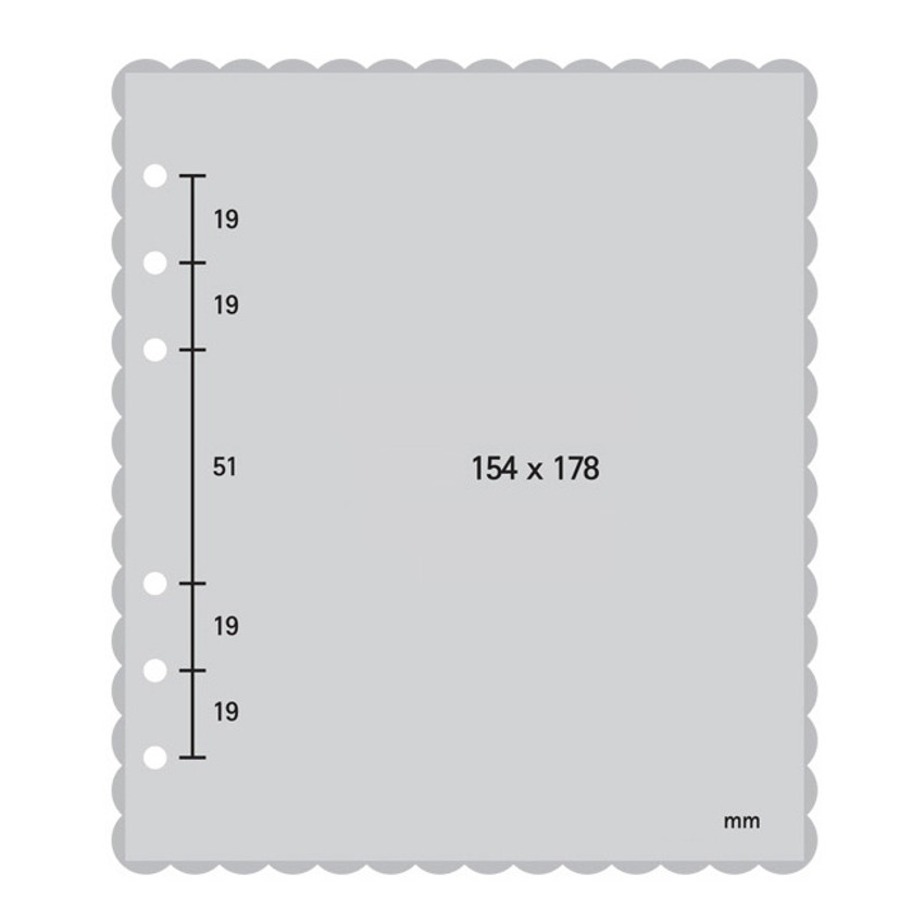 Size - 2NUL Biscuit wide A6 6 ring blank note paper refill set
