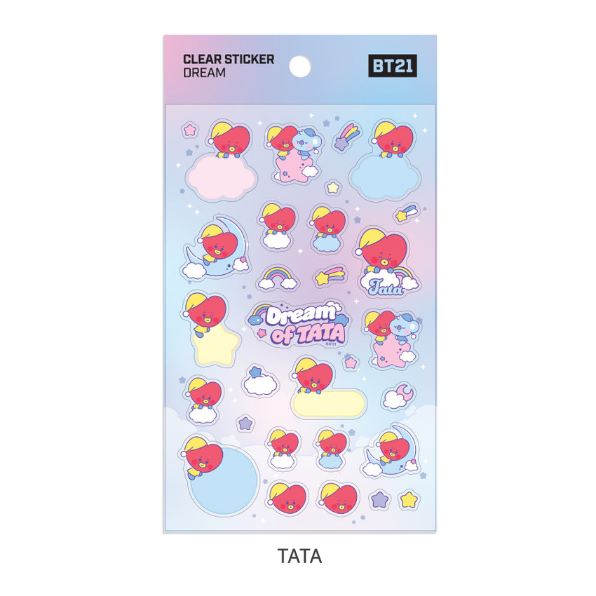 TATA - BT21 Dream baby pastel clear sticker