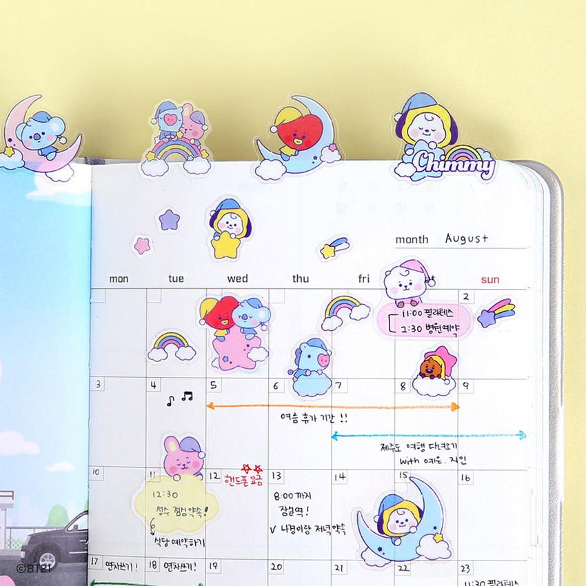 Usage example - BT21 Dream baby pastel clear sticker