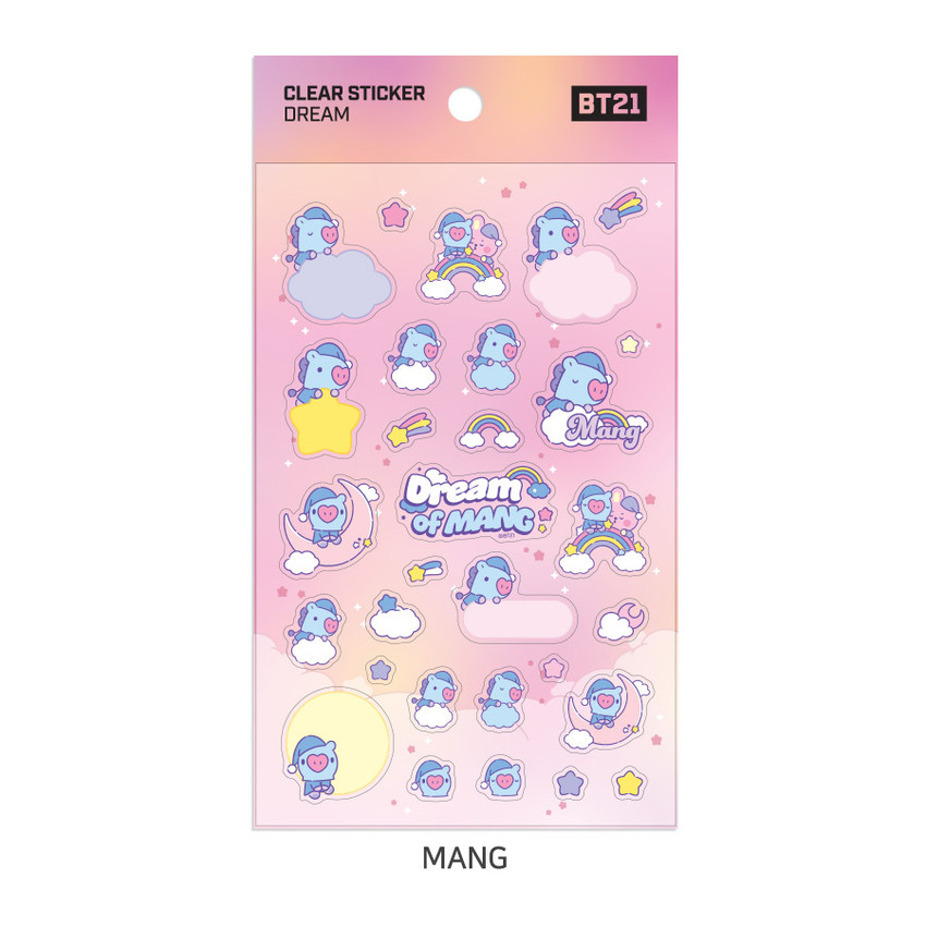 MANG - BT21 Dream baby pastel clear sticker