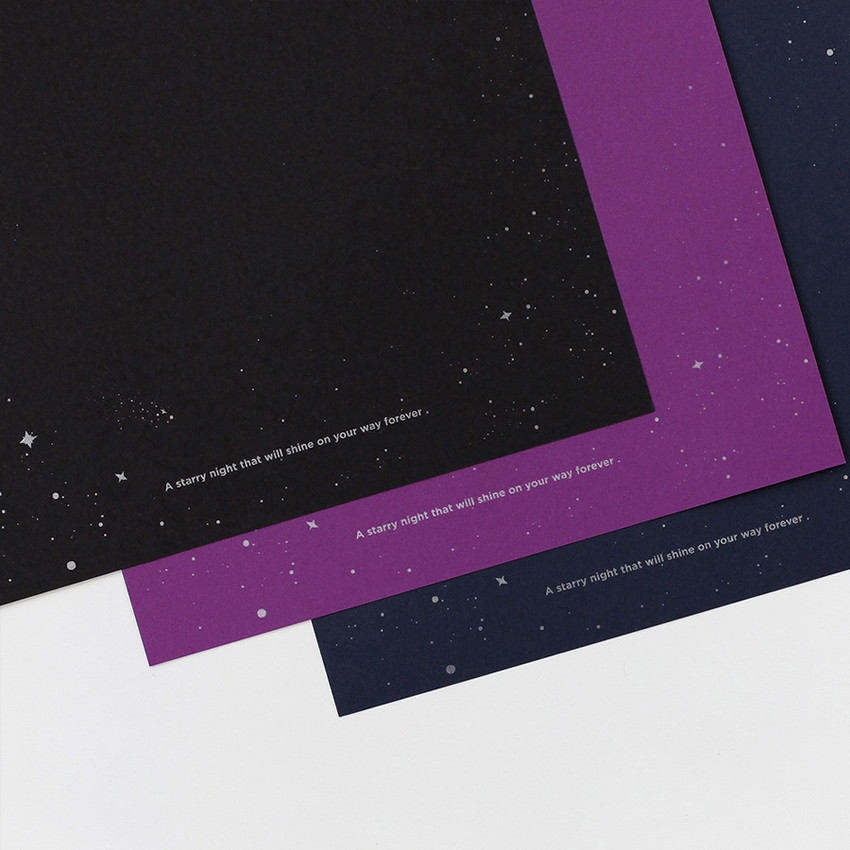 Detail of 2NUL Starry wide A6 6 ring blank note paper refill set