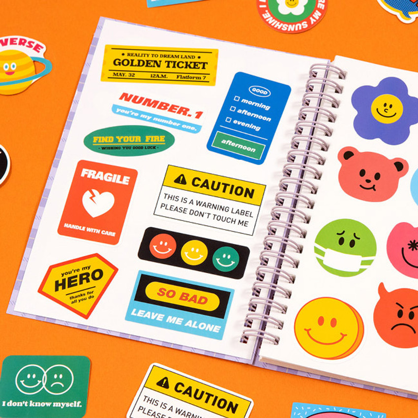 Usage example - Ardium 20 Pieces paper sticker pack