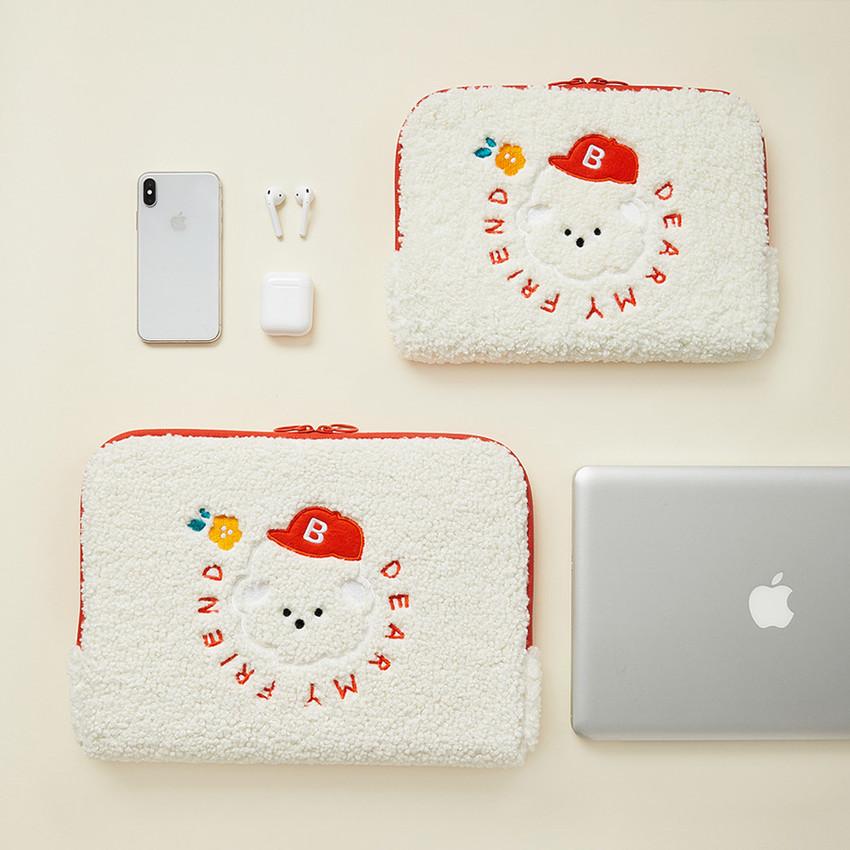 """Bichon Frise boucle iPad 13"""" laptop zipper sleeve case pouch"""