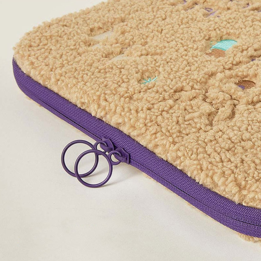 "Double zipper pocket - Llama boucle iPad 13"" laptop zipper sleeve case pouch"