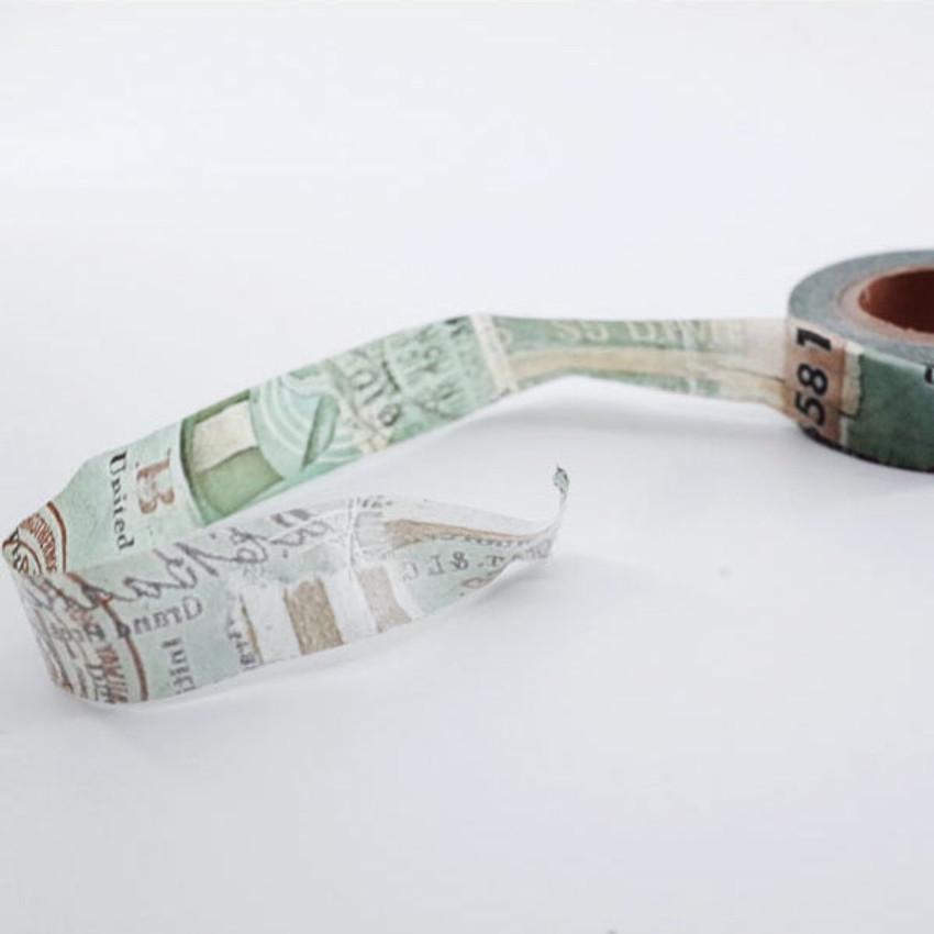 Mint green vintage lettering paper masking tape