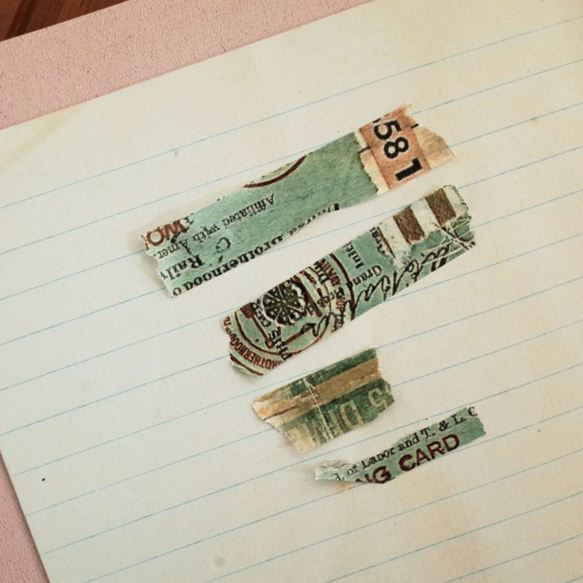 Usage example - Mint green vintage lettering paper masking tape