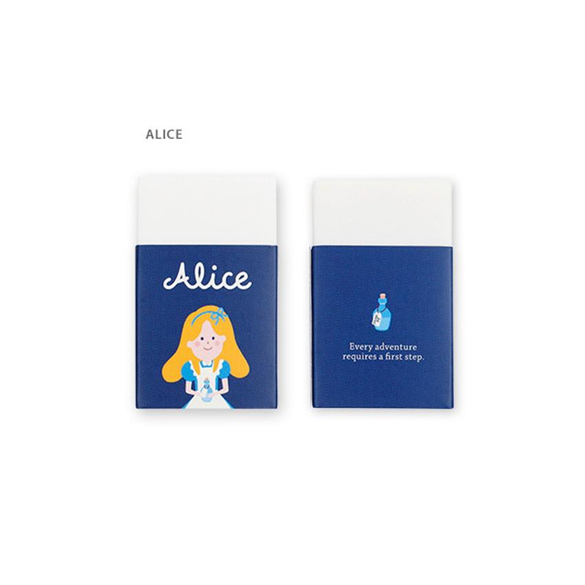 Alice - Bookfriends World literature white pencil eraser
