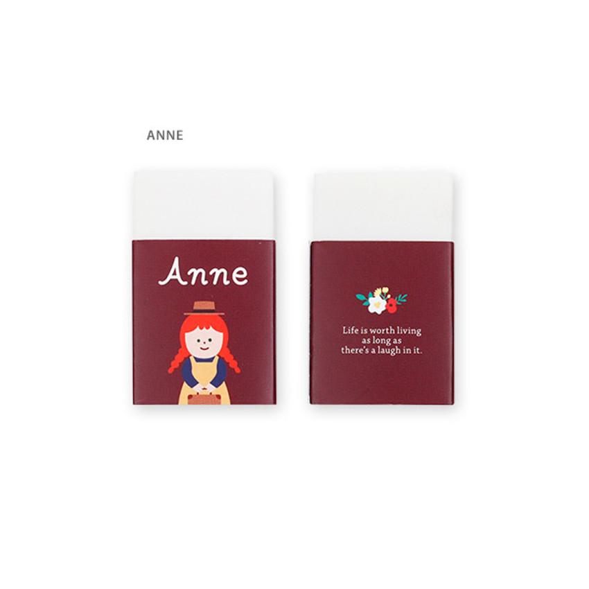 Anne - Bookfriends World literature white pencil eraser