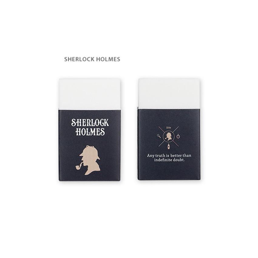 Sherlock holmes - Bookfriends World literature white pencil eraser