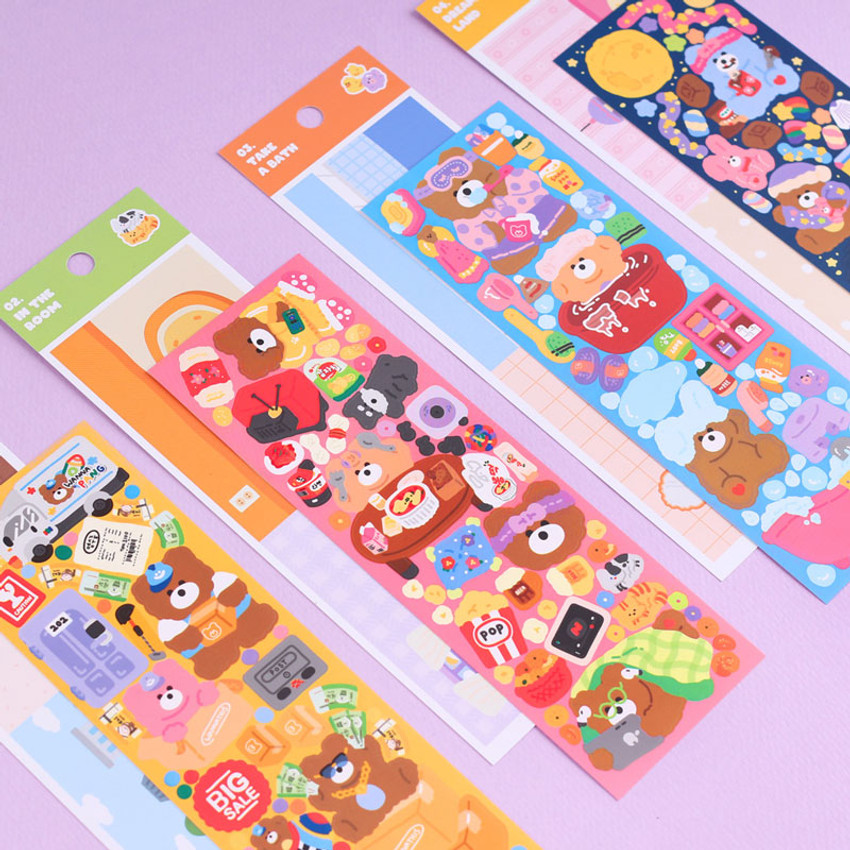 Wanna This Today Monggeul bear removable sticker seal