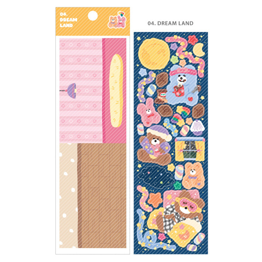 04 Dream Land - Wanna This Today Monggeul bear removable sticker seal