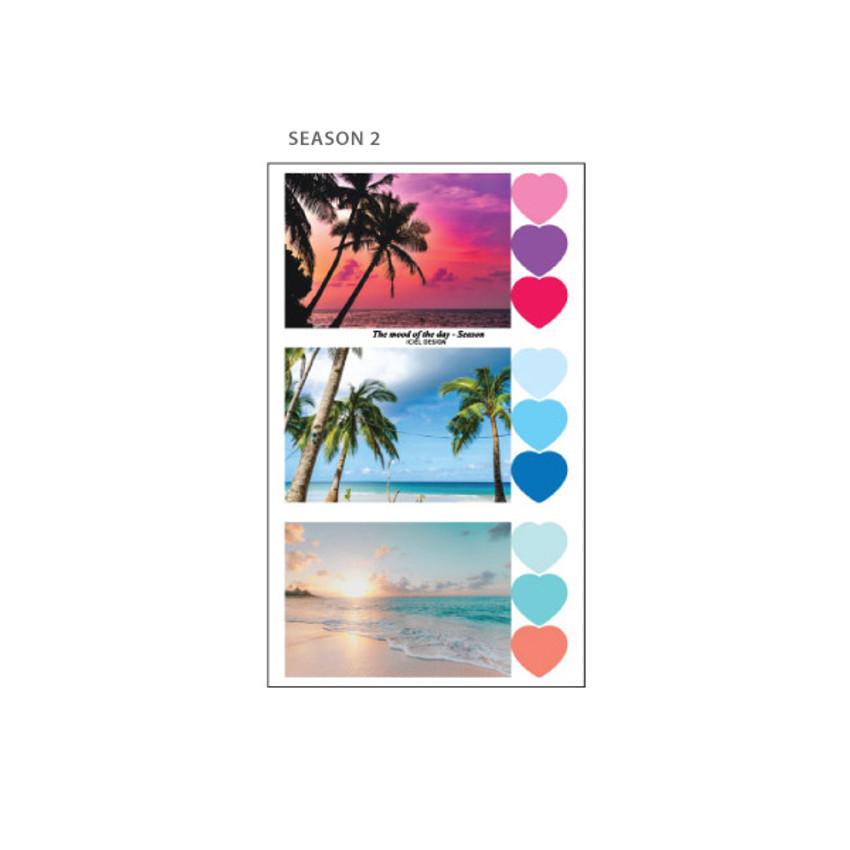 Season 2 - ICIEL Daily photo heart paper sticker