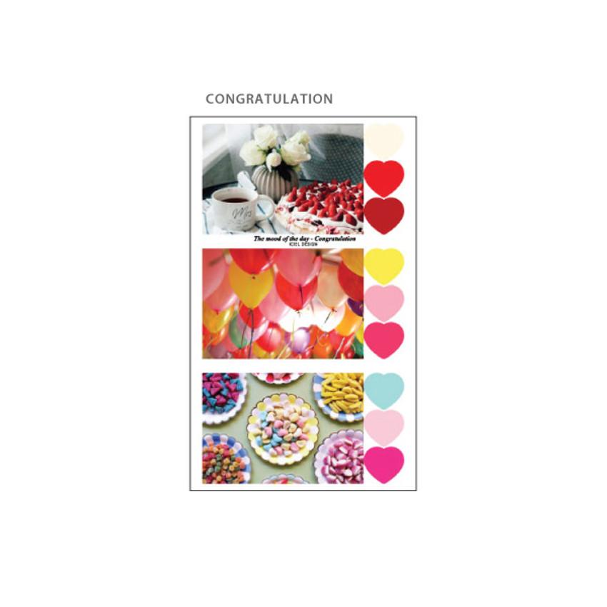 Congratulation - ICIEL Daily photo heart paper sticker